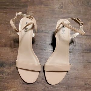 Unlisted Kenneth Cole Nude Glossy Sandals